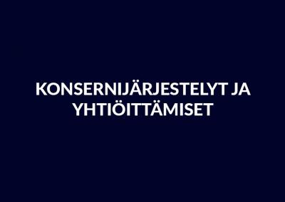 Julkishallinto: Konsernijärjestelyt ja yhtiöittämiset